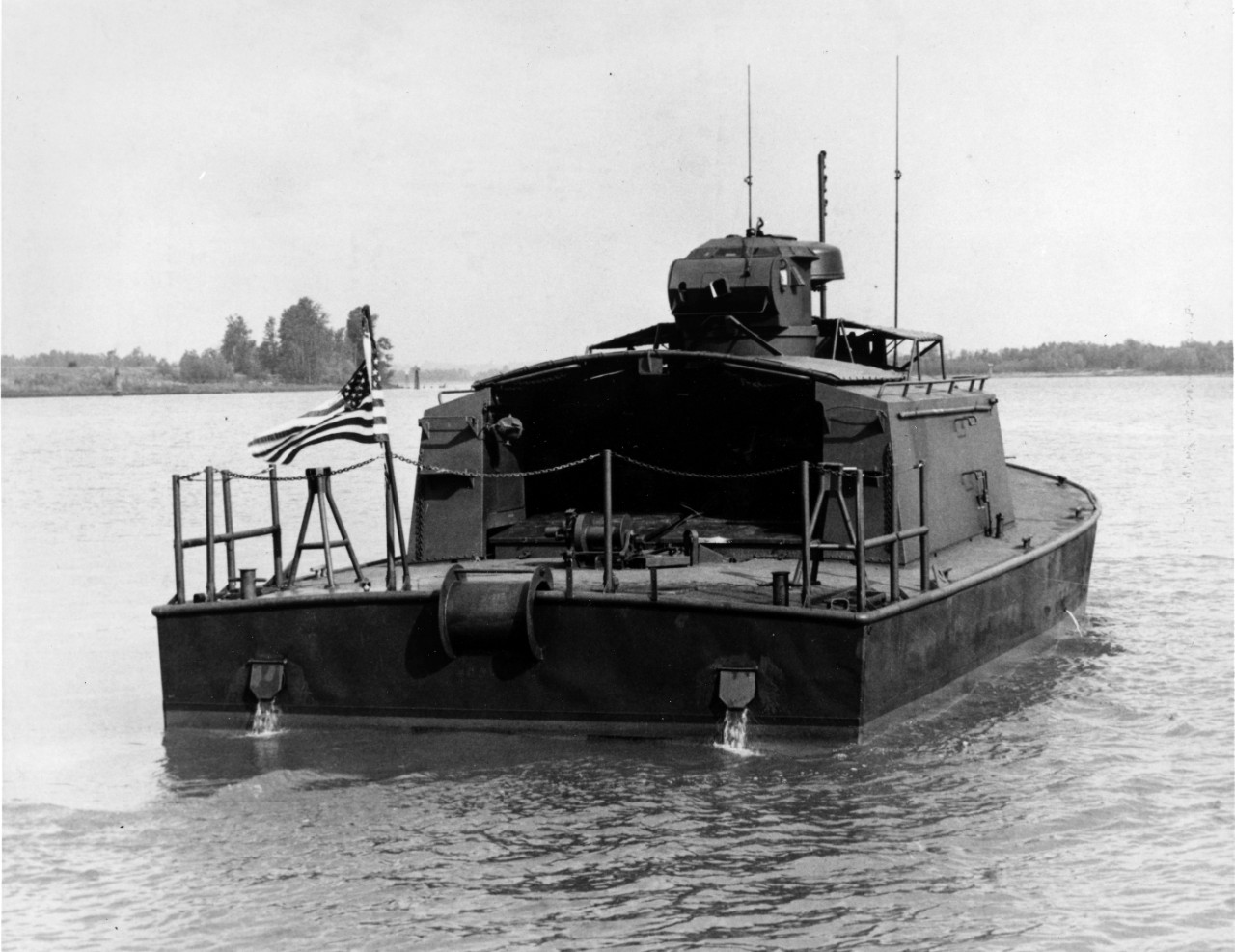 Collection of 152 photographs (copies, originals loaned from the Boats and Landing Craft office at NAVSEA) of riverine craft from the Vietnam era. See below for full inventory.