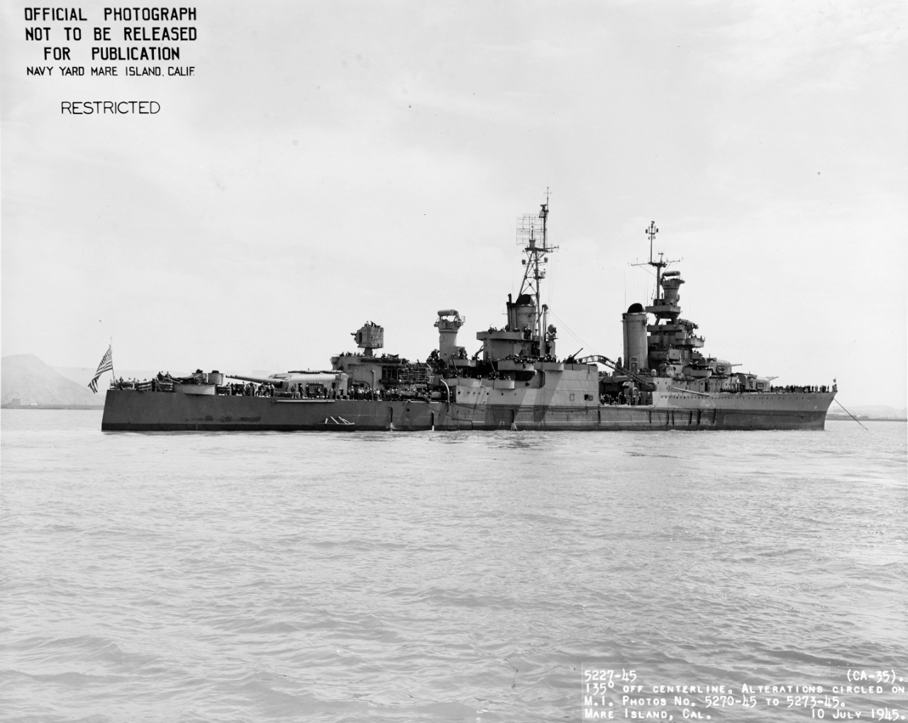 Photo #: 19-N-86912  USS Indianapolis (CA-35)