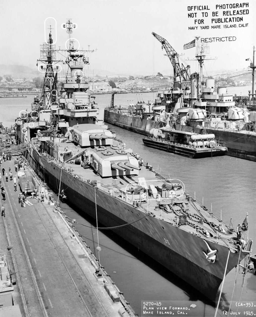 USS Indianapolis 1/350 Academy - 1945 1448650337246