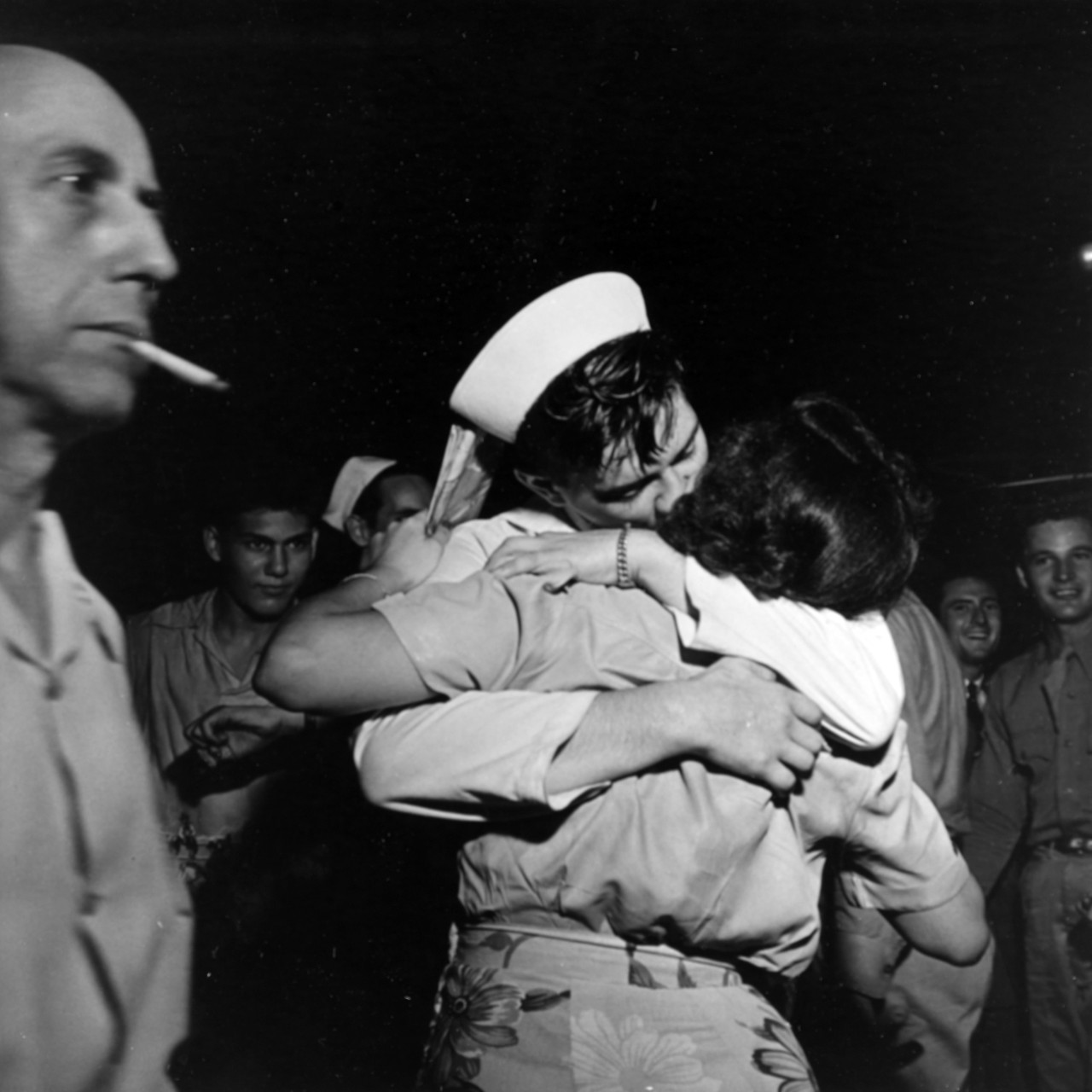 Photo #: 80-G-377106  Surrender of Japan, 1945