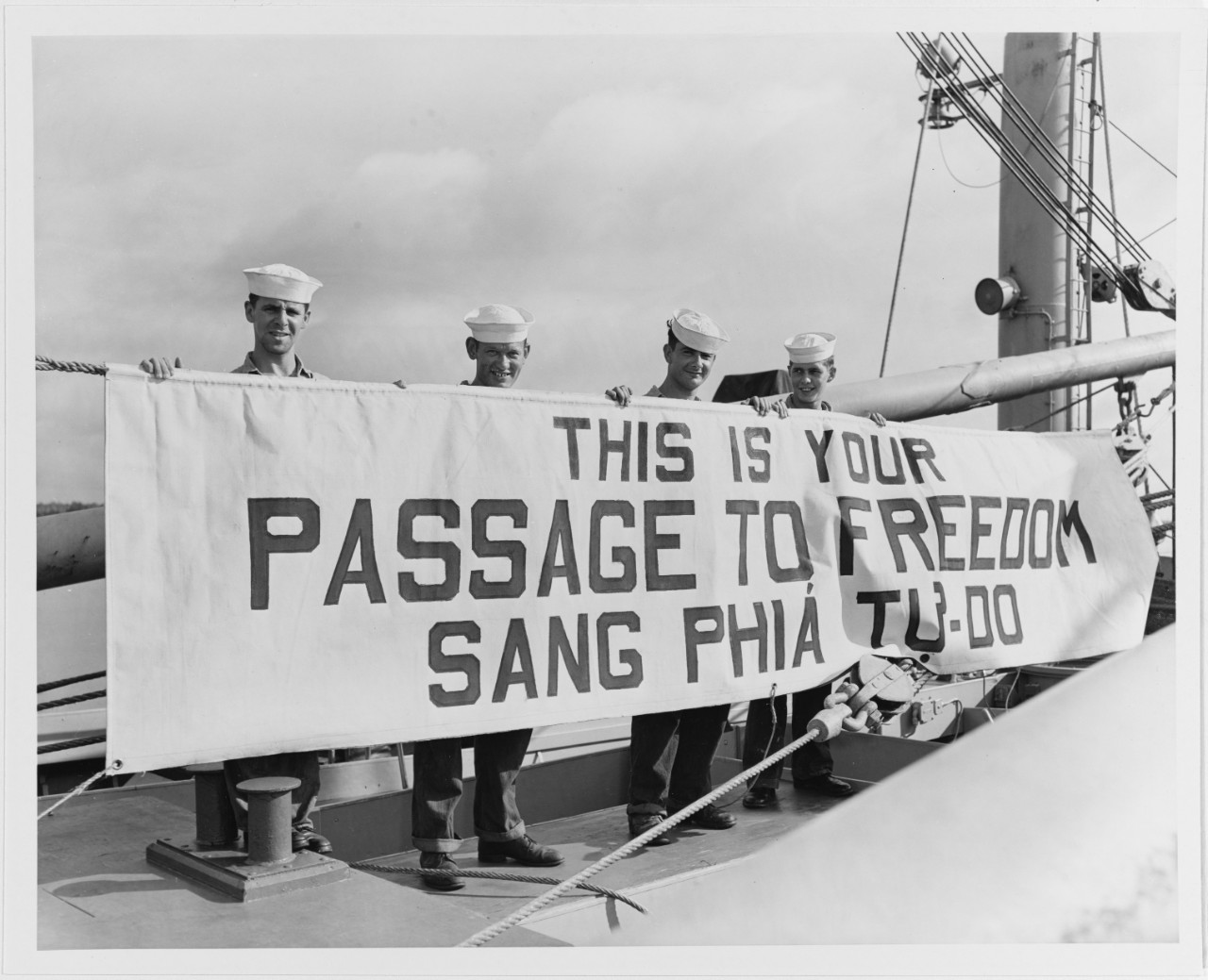 "Photo #: 80-G-709239  Operation ""Passage to Freedom"", 1954-1955"