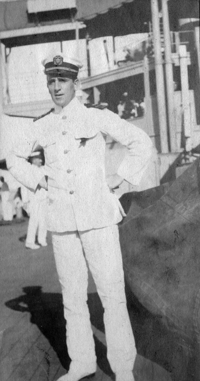 Lieutenant Commander Yates Stirling, Jr., circa 1907-1909, during the cruise of the Great White Fleet