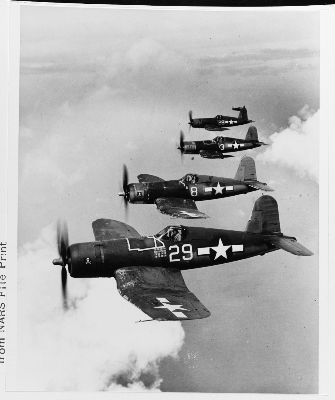 "Vought F4U-1A ""Corsair"" fighters, of VF-17"
