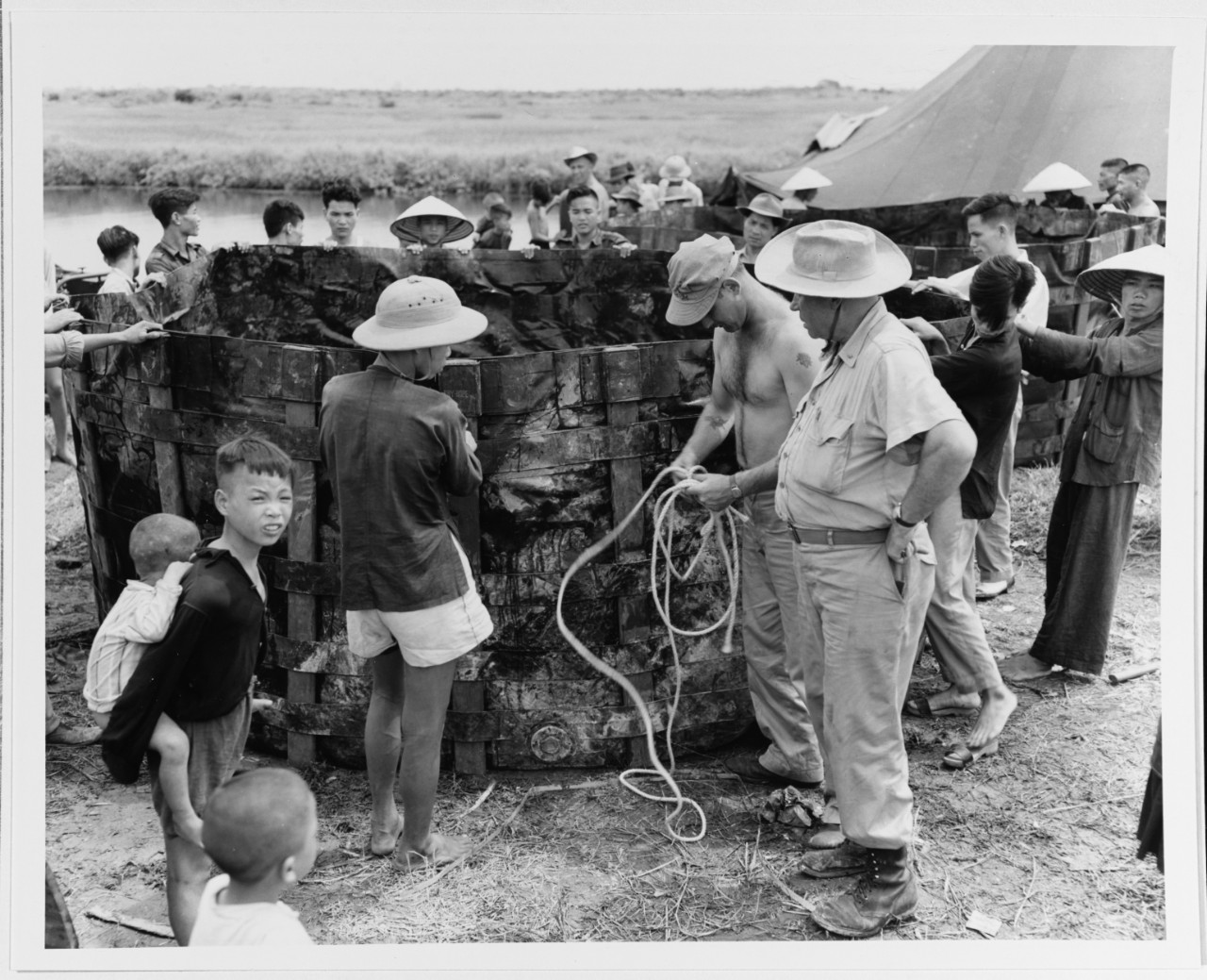 Vietnamese refugee camp