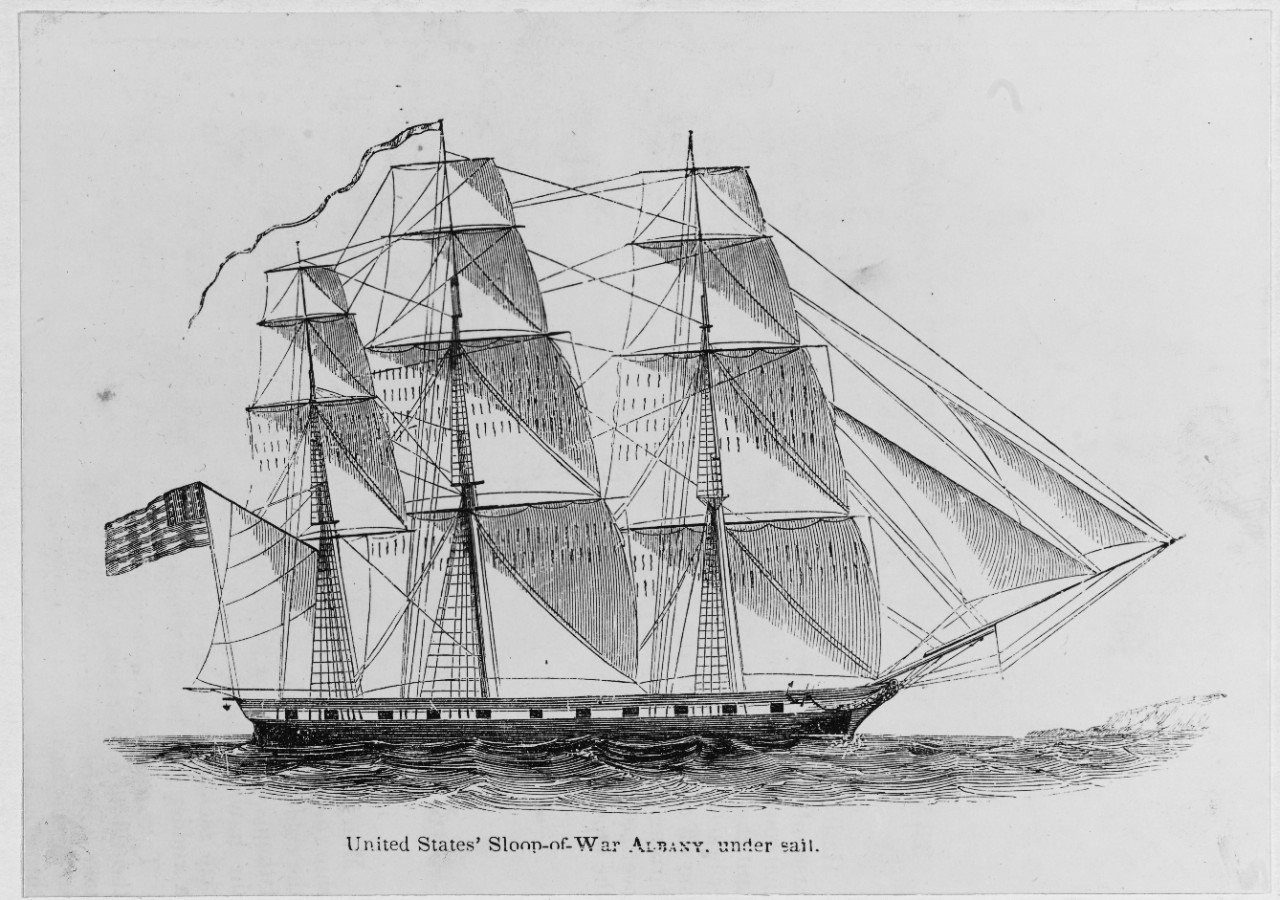 "United States Sloop-of-War ""ALBANY"" under sail (1846-1854)"