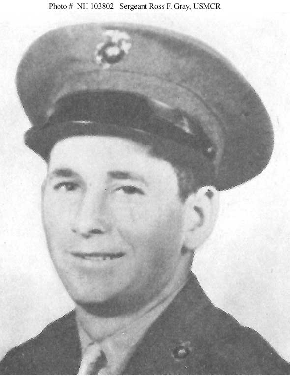 Photo #: NH 103802  Sergeant Ross Franklin Gray, USMCR