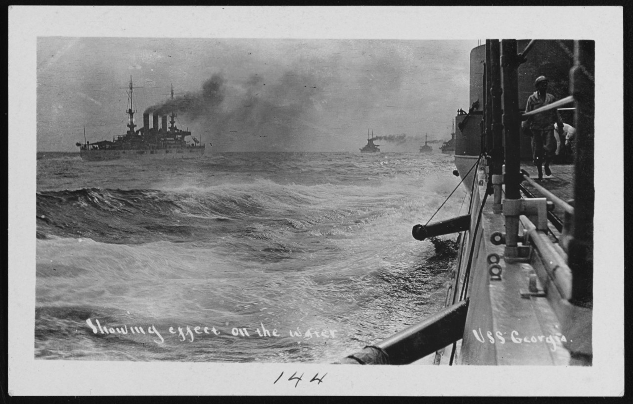 "Photo #: NH 105990  ""Great White Fleet"" World Cruise"