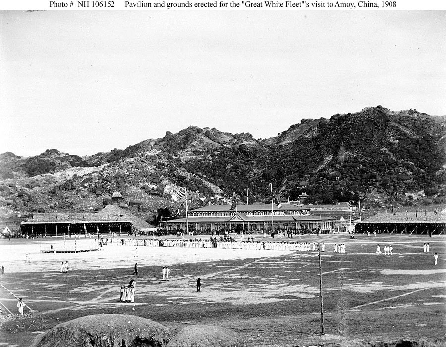 "Photo #: NH 106152  ""Great White Fleet"" World Cruise, 1907-1909"