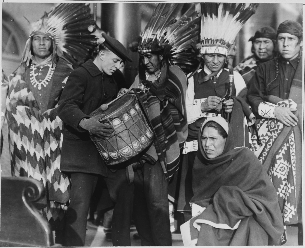 US Navy seaman with native American