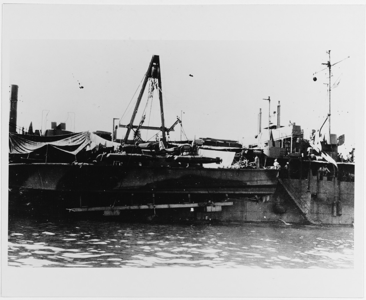 Motor Torpedo Boat Tender (AGP) of the LST Type