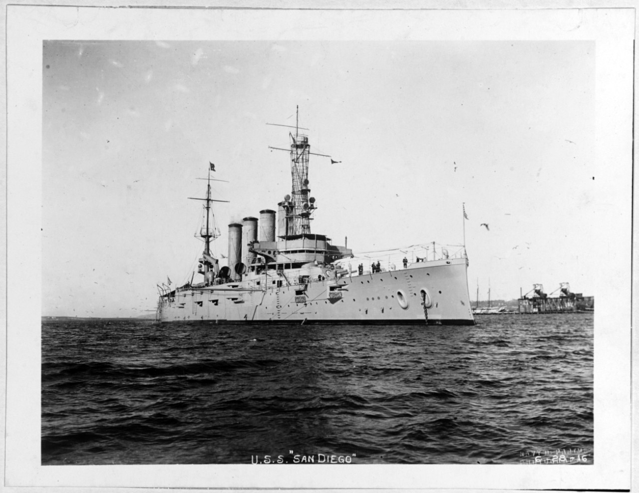 Photo #: NH 55013  USS San Diego (Armored Cruiser No. 6)