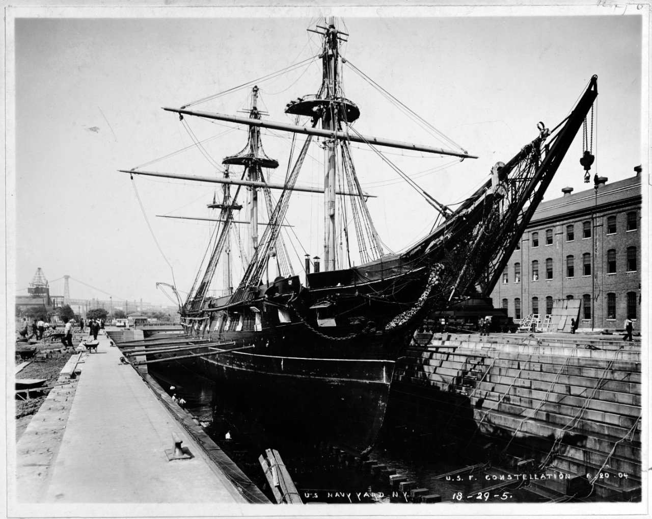USS CONSTELLATION (1855-1955)