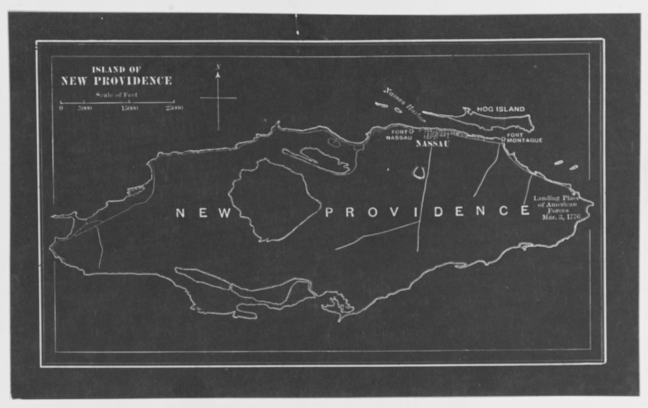 New Providence Island where Americans Landed