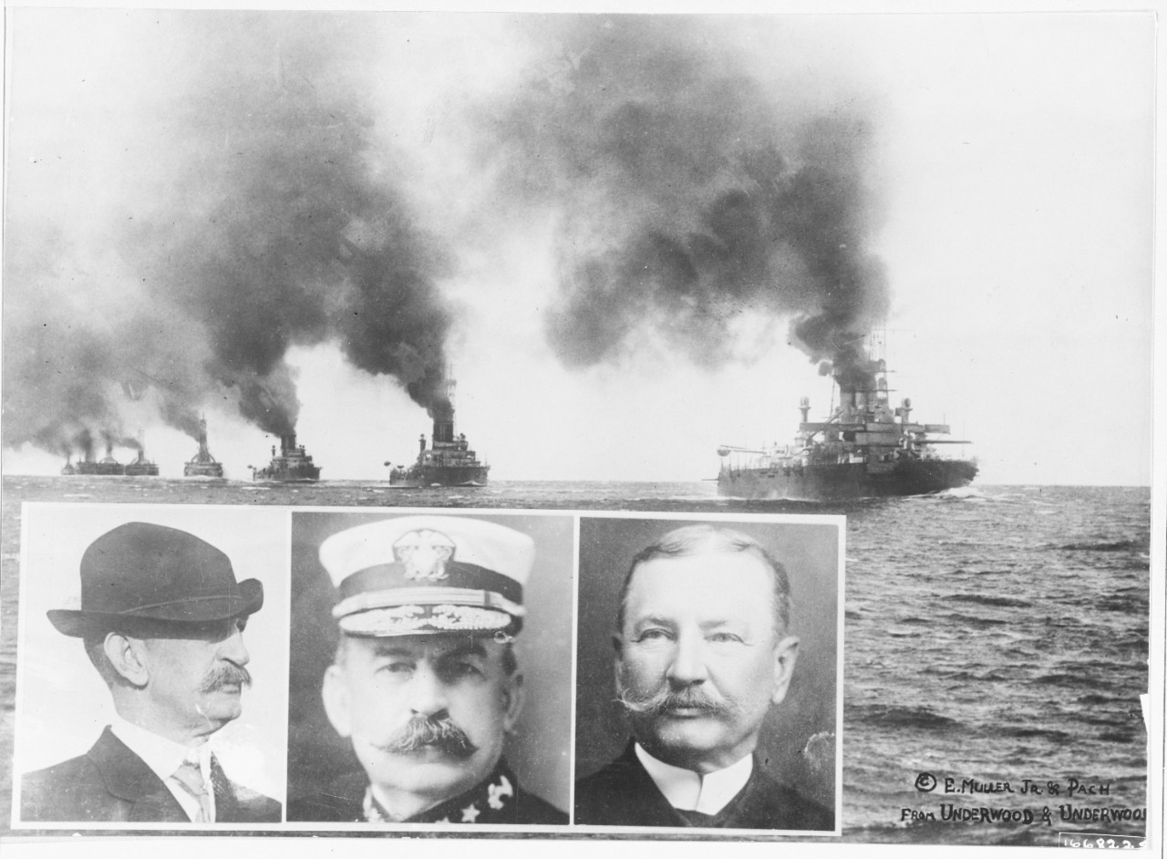 Photo #: NH 60322  U.S. Atlantic Fleet battleships
