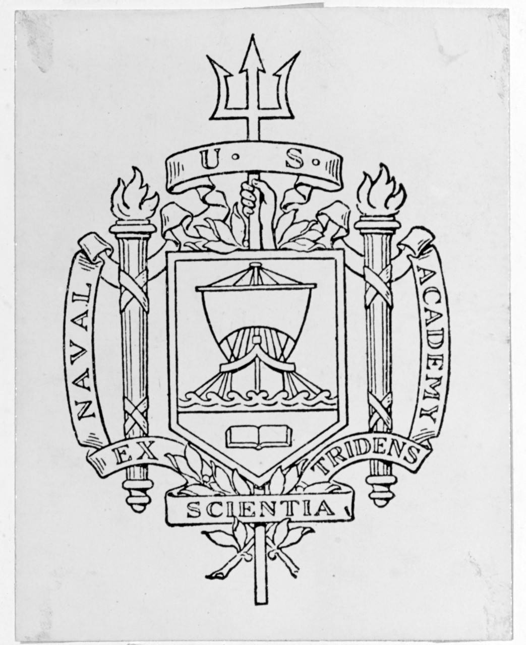 Seal of the U.S. Naval Academy, Annapolis, Maryland.
