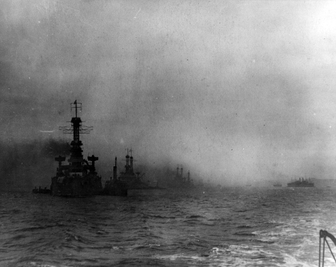 Photo #: NH 63454  Battleships of the Sixth Battle Squadron