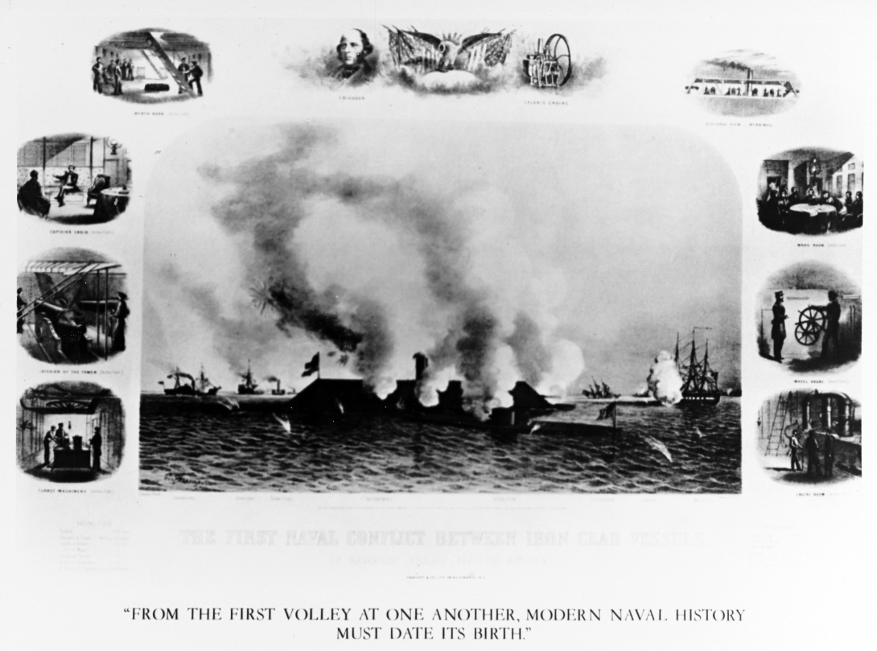 The First Naval Conflict between Iron Clad Vessels