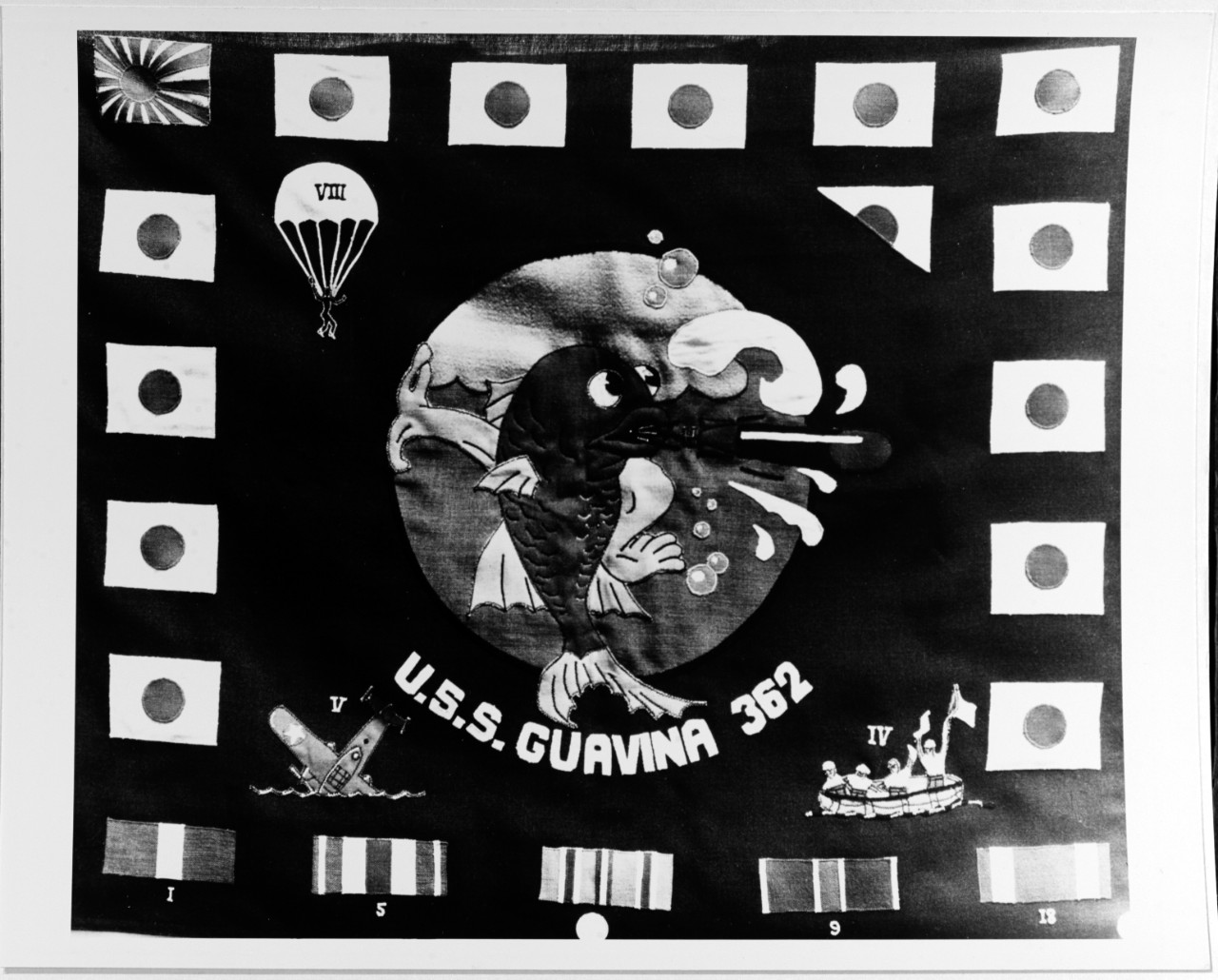 NH 68067 Battle flag: USS GUAVINA (SS-362)