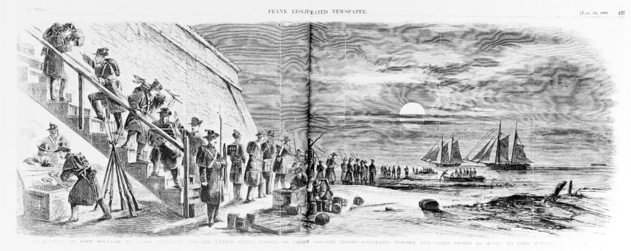 Fort Moultrie evacuation