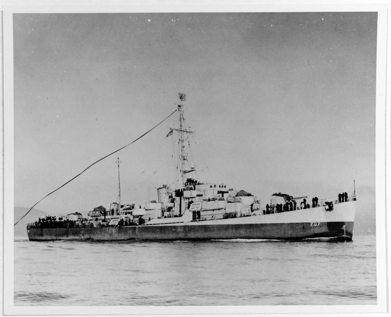 USS Jobb Sailing in San Franciso Bay, 1945