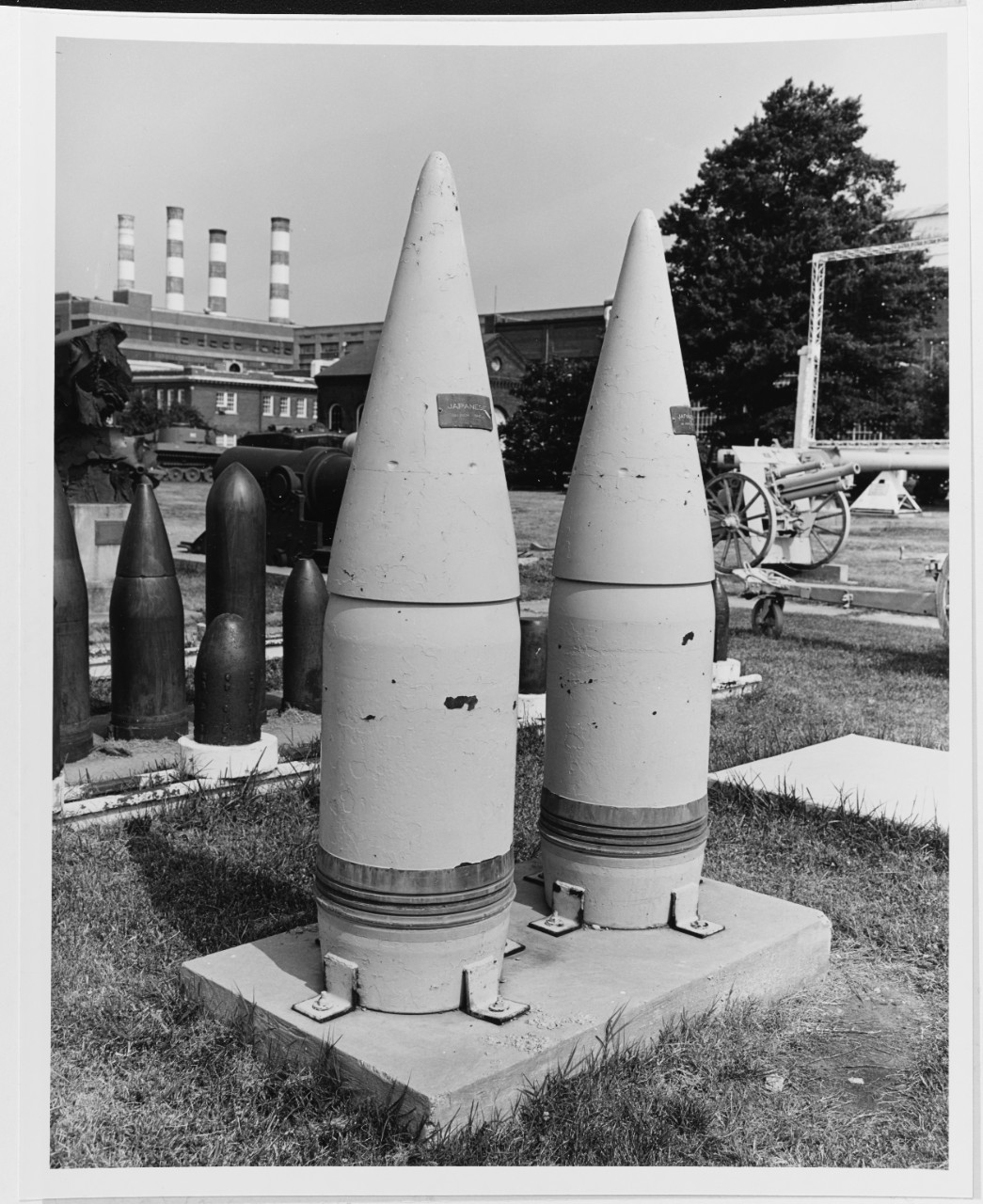 "Japanese Navy 18.1"" projectiles, for YAMATO class battleships."
