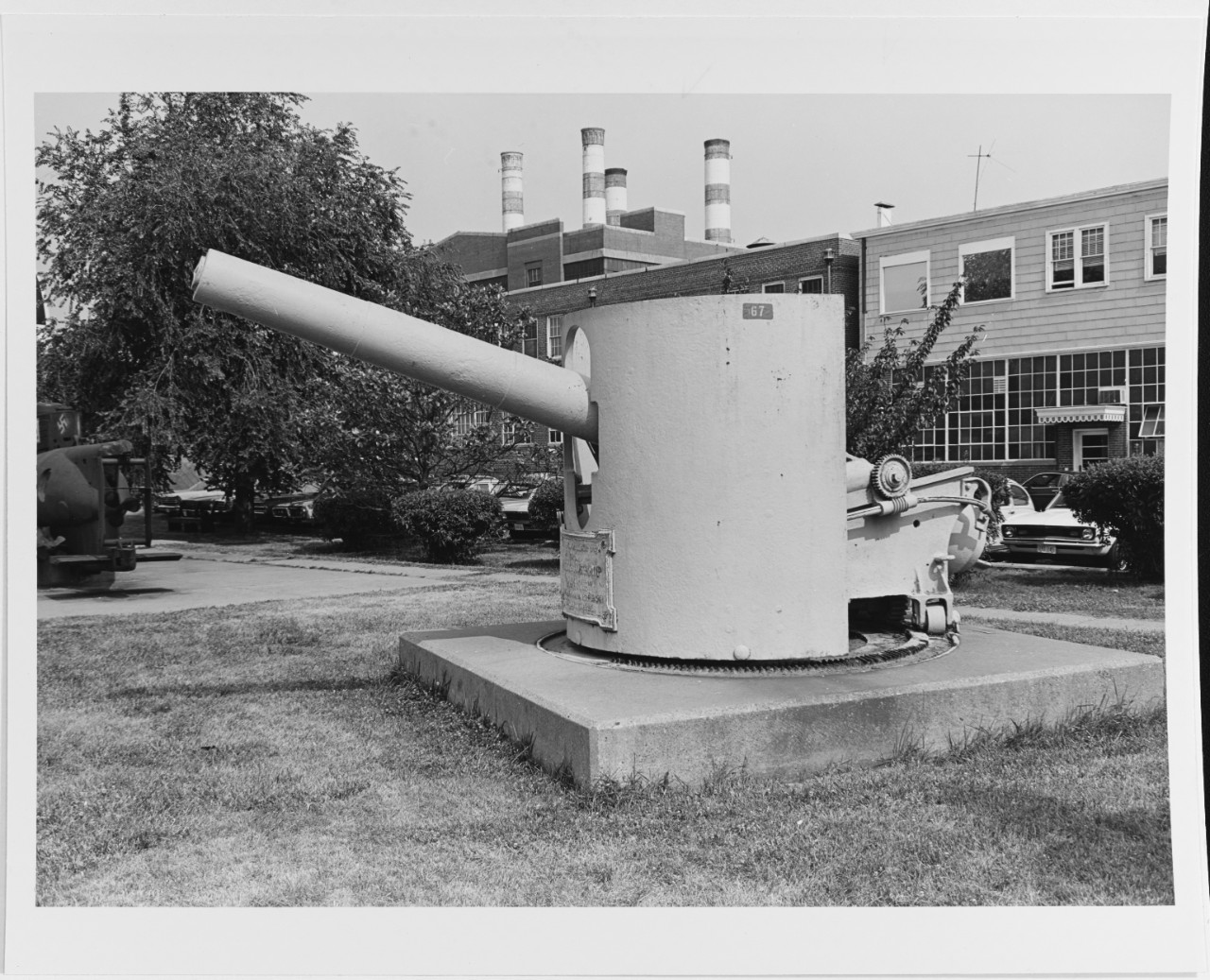"6""/30 gun salvaged from the USS MAINE, 1898."