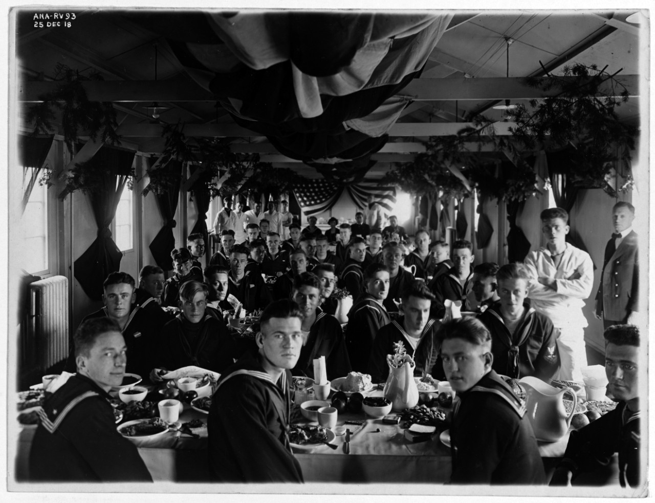 Christmas dinner at Naval Air Station (NAS) Anacostia, D.C., 25 December 1918