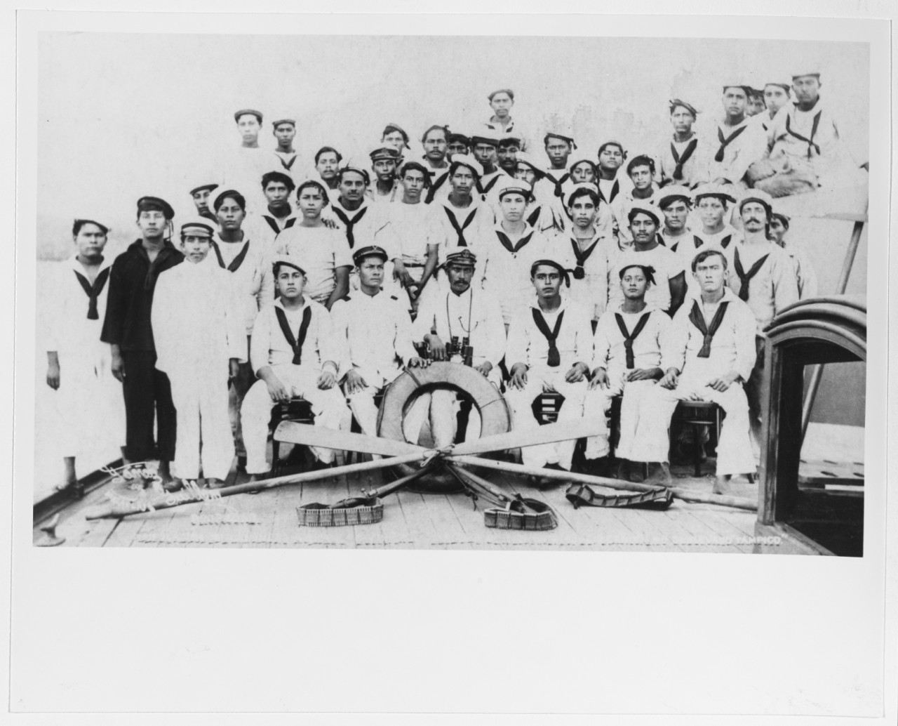 Officers and Crew Members of the Mexican Gunboat GENERAL GUERRERO