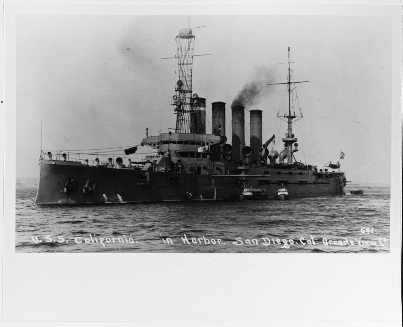 Photo #: NH 94938  USS California (Armored Cruiser No. 6)