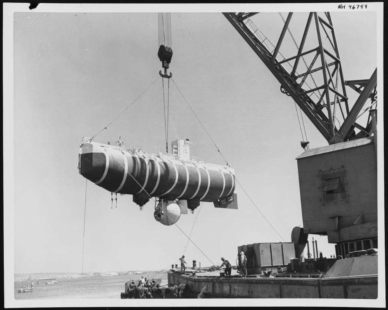 Photo #: NH 96799  U.S. Navy Bathyscaphe Trieste (1958-1963)