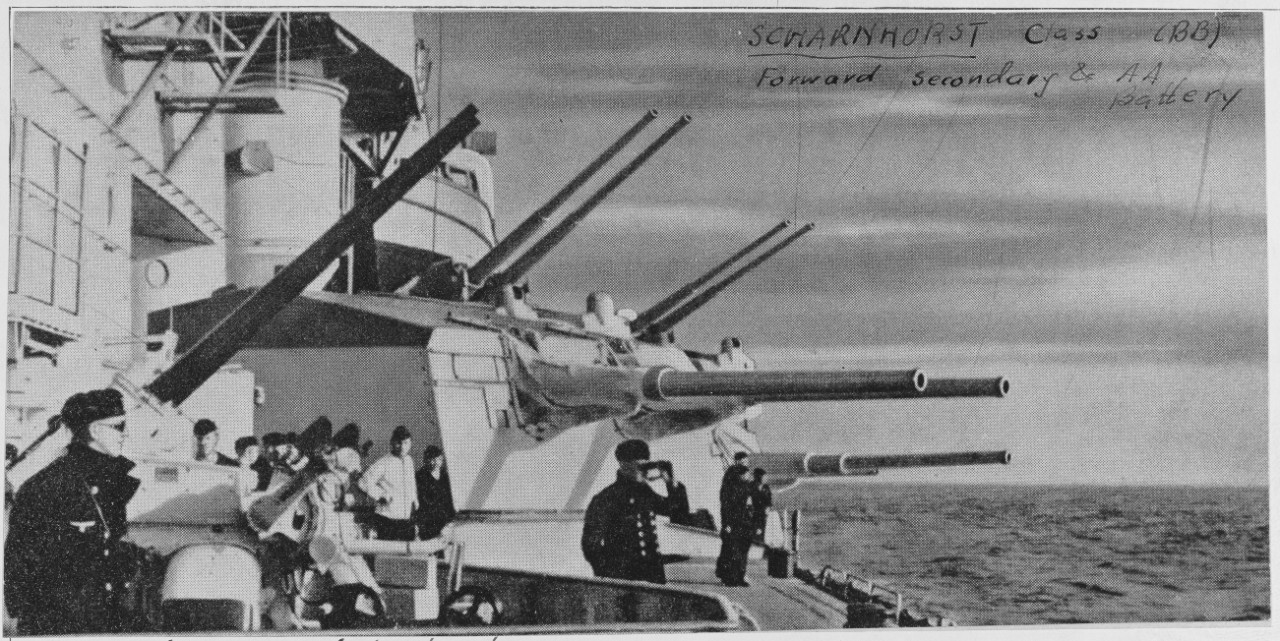 Photo #: NH 97507  German 150mm twin gun turret