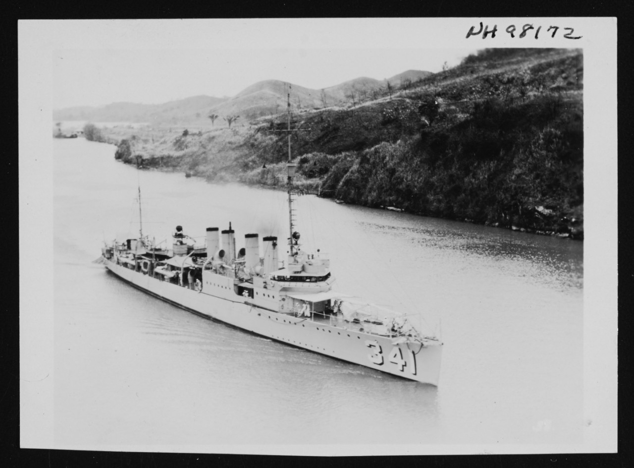 Photo #: NH 98172  USS Decatur (DD-341)