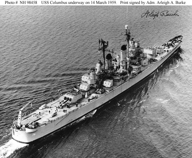 USS COLUMBUS CA 74 Naval Ship Photo Print USN Navy