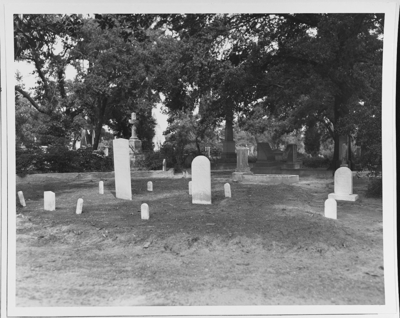 The HUNLEY Plot in Magnolia Cemetery, Charleston South Carolina
