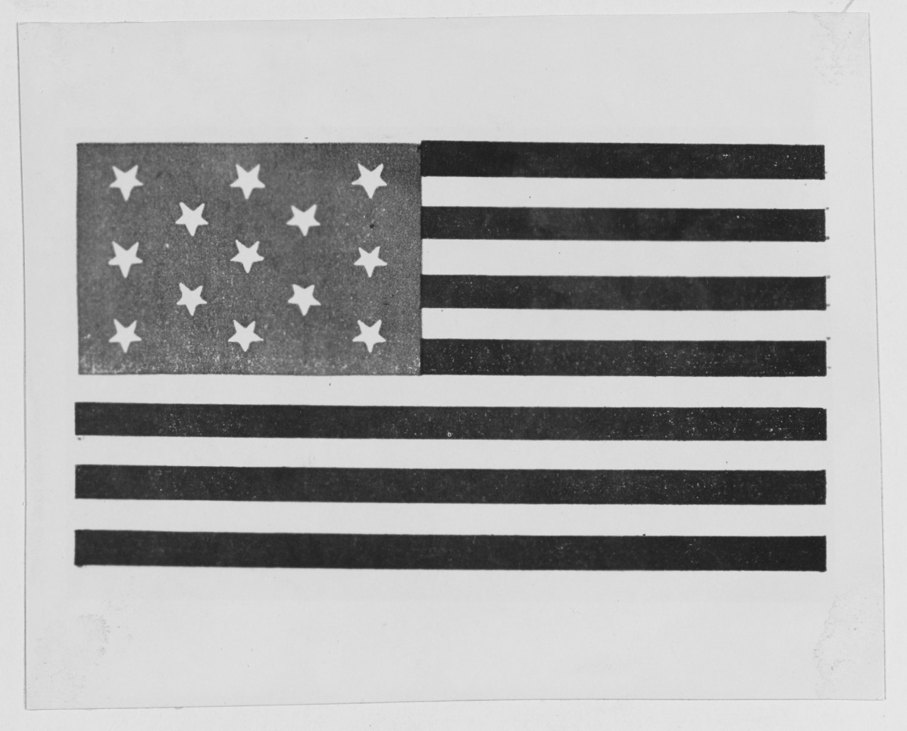 United States Flag between 1775-1795.