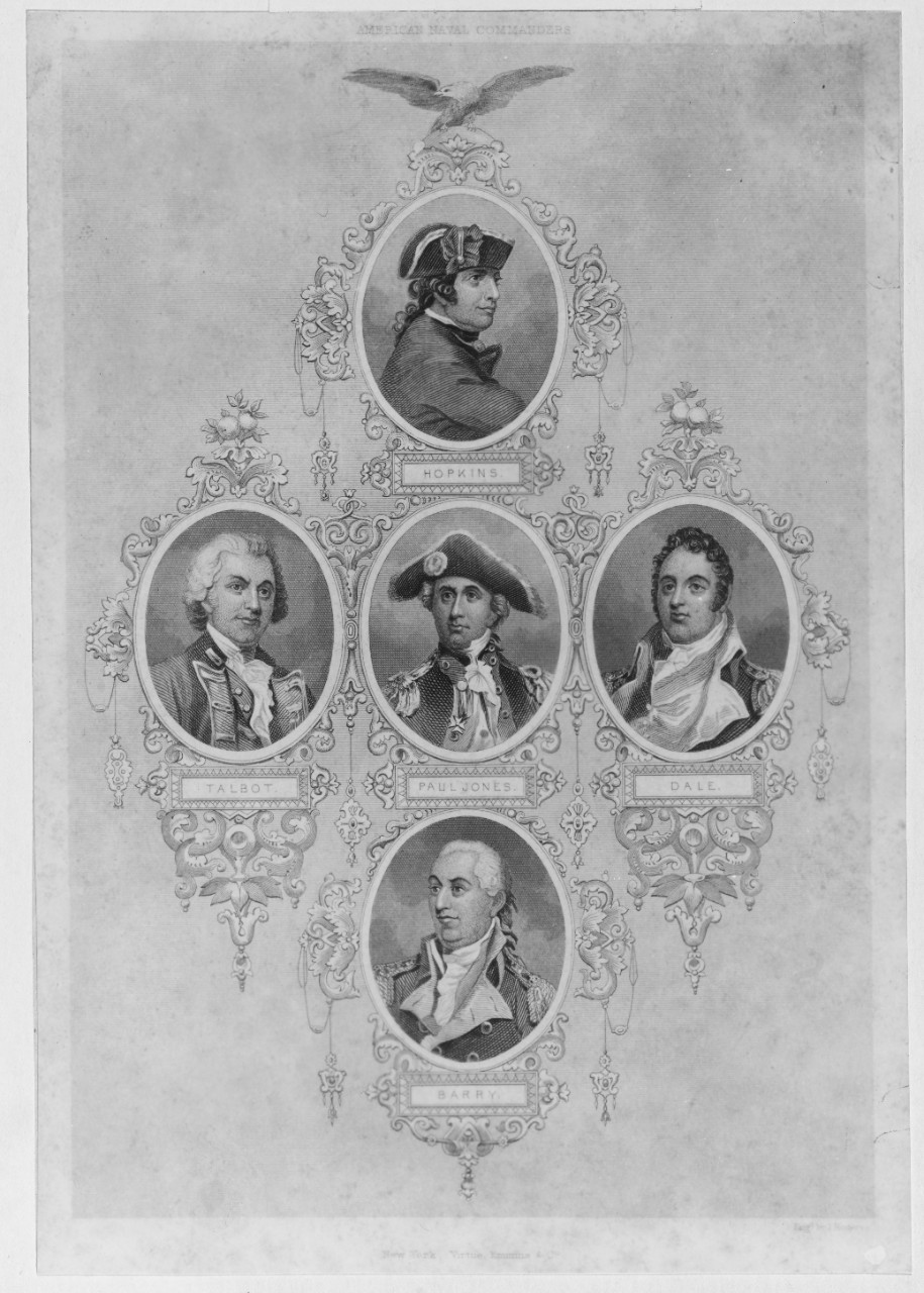 Photo #: NH 316 American Naval Commanders of the Revolutionary War Era