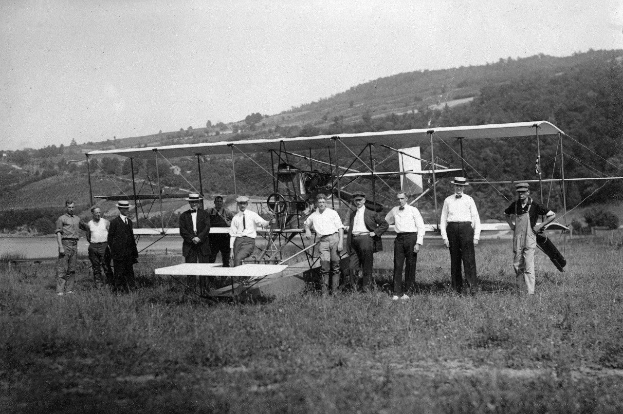 Curtiss Navy Hydroaeroplane at Lake Keuka, Hammondsport, New York