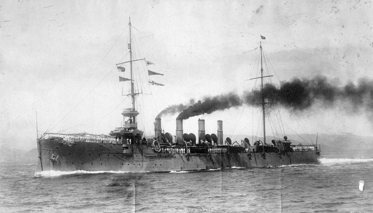 USS Birmingham (CL-2), circa 1914. From the collection of ADM Horne.