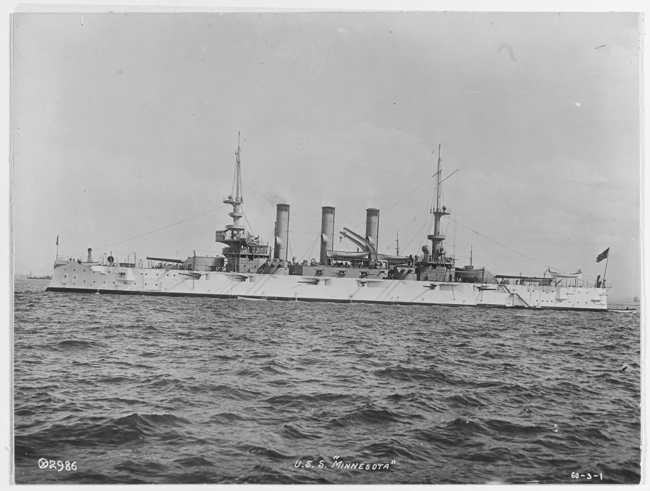 Photo #: NH 46023  USS Minnesota