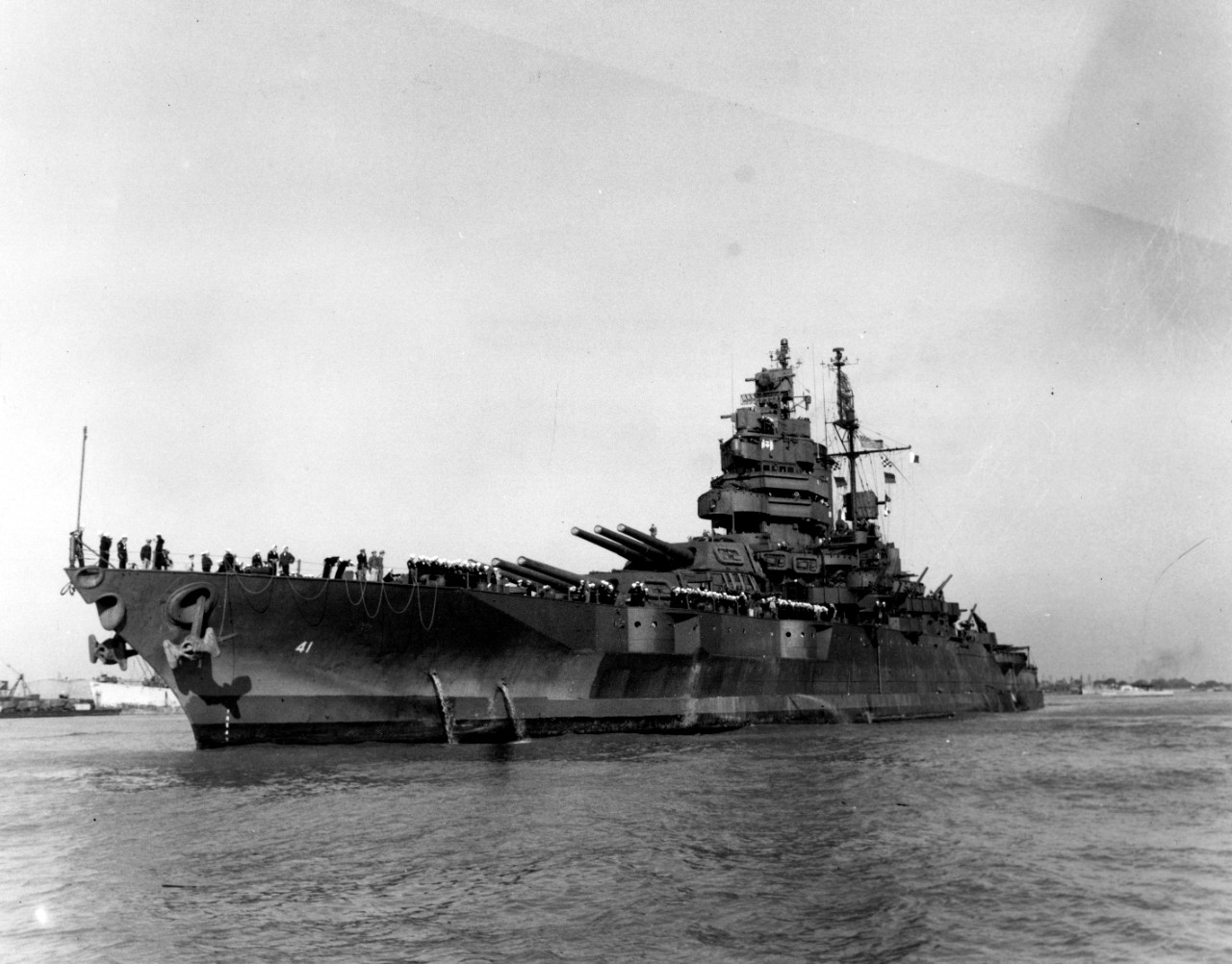 Photo #: SC 215864  USS Mississippi (BB-41)