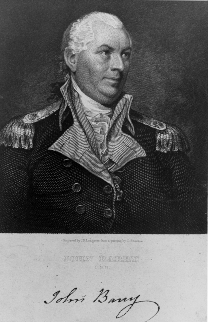 Photo #: NH 56857  Commodore John Barry, USN (1745-1803)