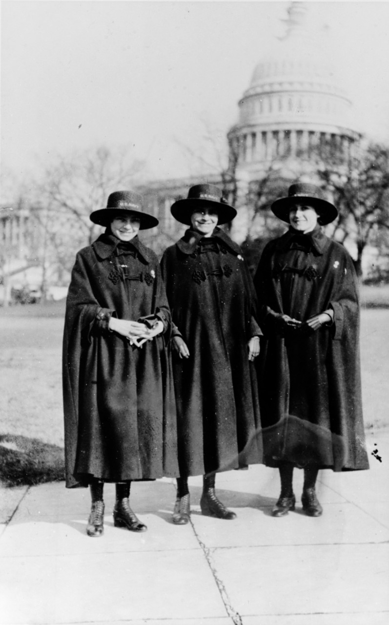 Photo #: NH 65571  Yeomen (F) Cora Dell Croft, Mabel Nora Croft and Frances Gormley