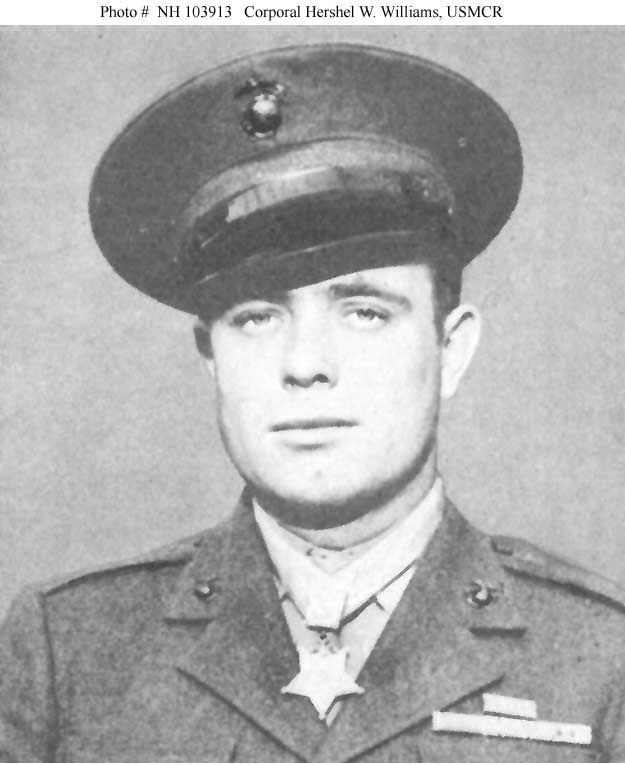 Photo #: NH 103913  Corporal Hershel W. Williams, USMCR