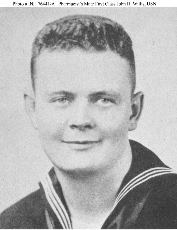 Photo #: NH 76441-A  Pharmacist's Mate First Class John H. Willis, USN