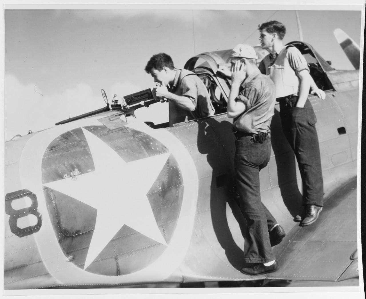 """Photo #: 80-G-K-15976 Douglas SBD-3 """"Dauntless"""" scout bomber"""