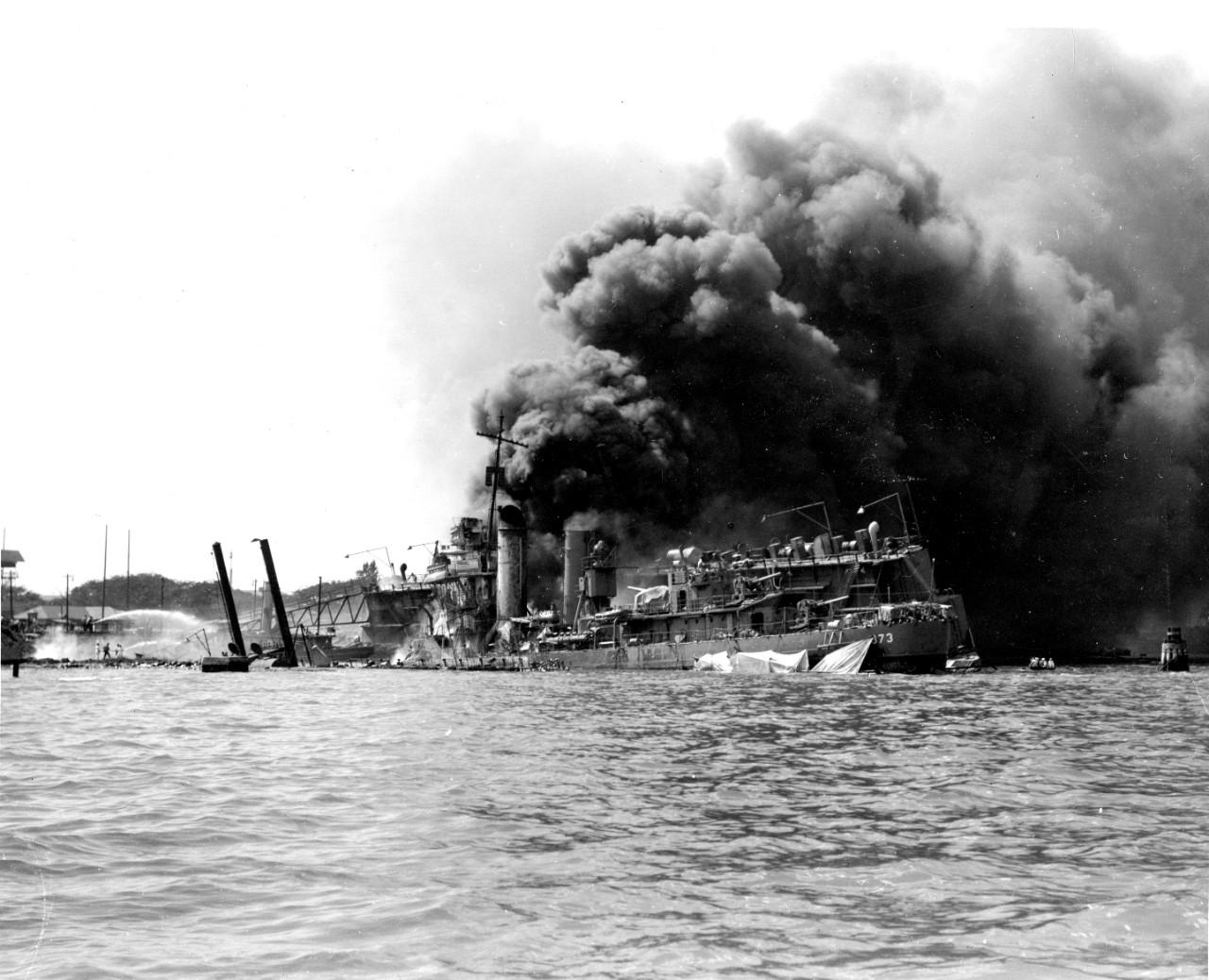 World War Ii Pearl Harbor Nthree US Battleships Stricken ... |World War 2 Bombing Of Pearl Harbor