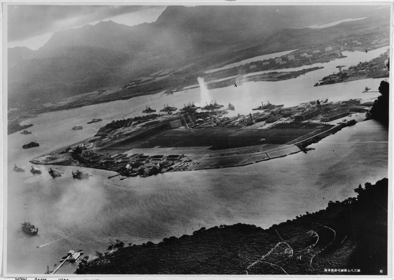 Photo #: NH 50930  Pearl Harbor Attack, 7 December 1941