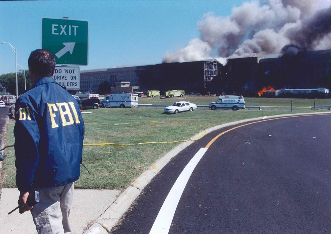 Pentagon Following Attack on 11 September 2001