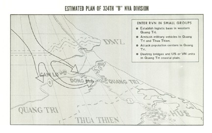 "Image of Estimated Plan of 324th ""B"" NVA Division"