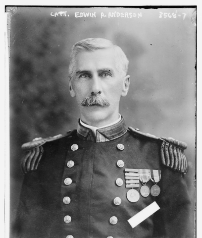 Photograph shows Edwin Alexander Anderson, Jr. (1860-1933), a United States Navy officer who was involved in the U.S. occupation of Veracruz, Mexico which took place during the Mexican Revolution. (Source: Flickr Commons project, 2012). LC-B2- 3568-7 [P&P].